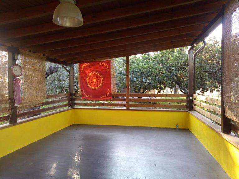 yoga & workshop area