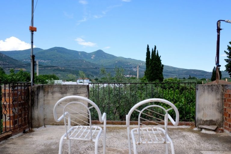 Pelion view from the rooftop